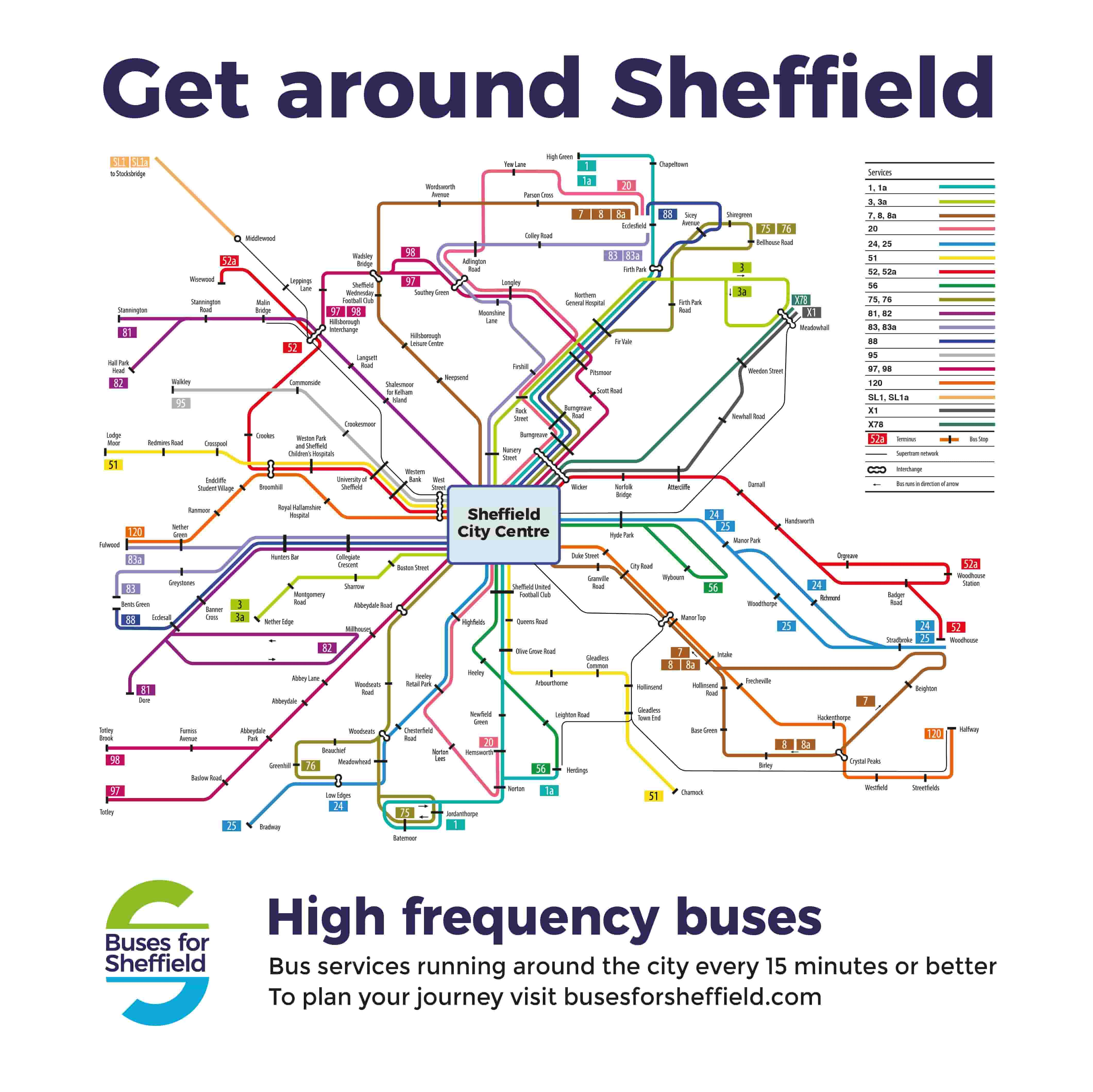 High Frequency Bus Map