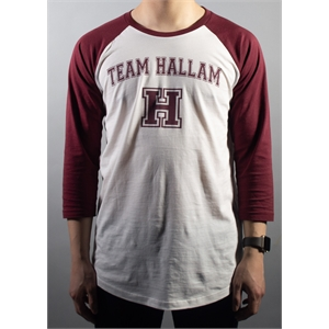 Image for White/Maroon Varsity Baseball Shirt