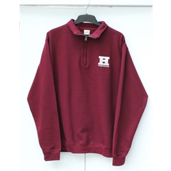 Image for Team Hallam ¼ Zip Jumper Maroon - XL