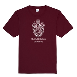 Image for Maroon Crested Gym T-Shirt - Small