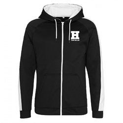 Image for Zip up Team Hallam Hoody Black & White - Small