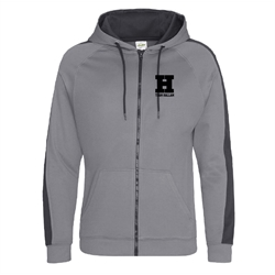 Image for Zip up Team Hallam Hoody Black & Grey