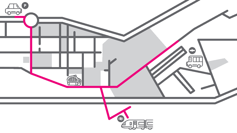 map to the students' union